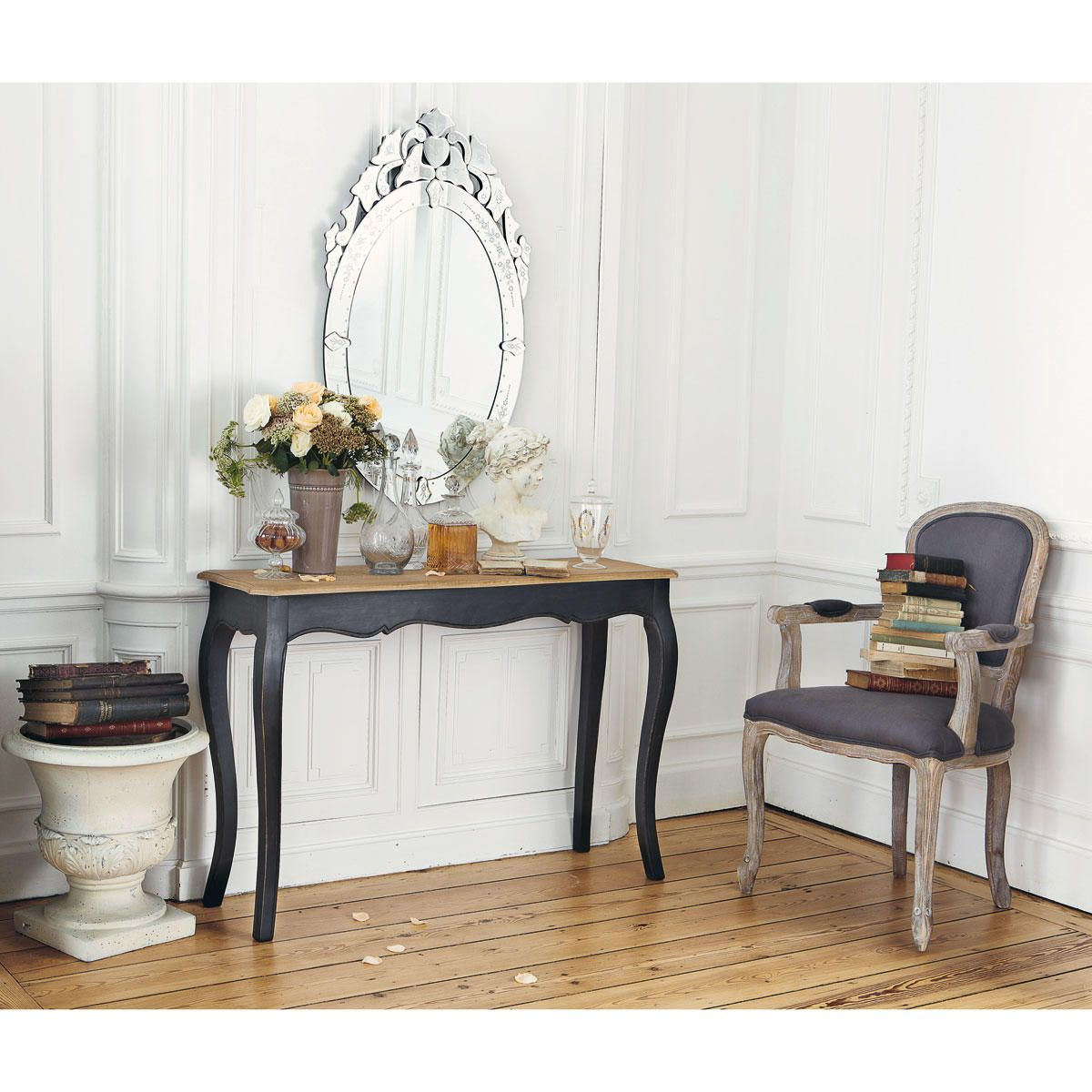 table console en manguier massif noire maison du monde decoration entree et d co int rieure. Black Bedroom Furniture Sets. Home Design Ideas