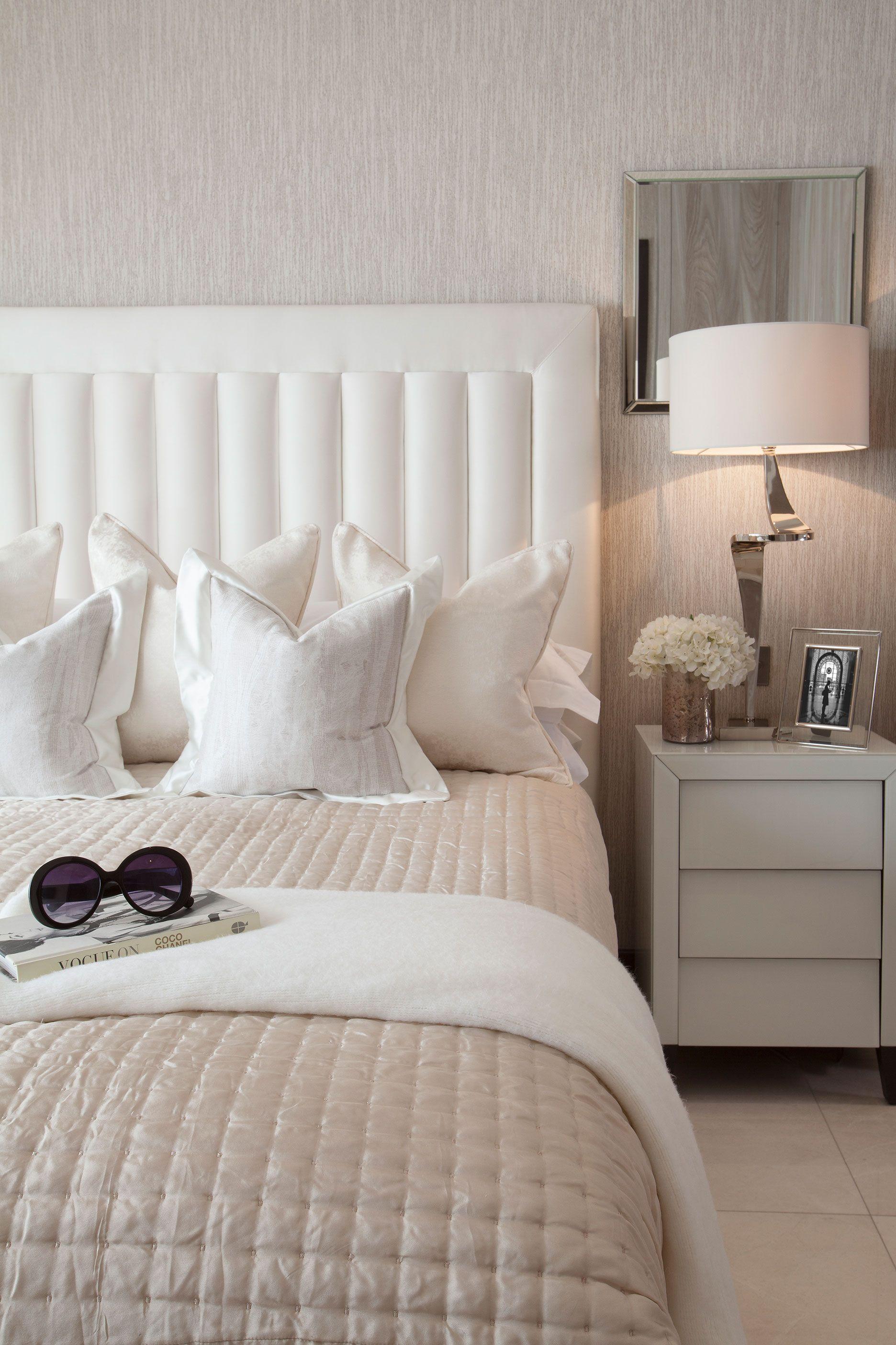 Master Bedroom Bed Cushions Headboard Bespoke Light Bedside