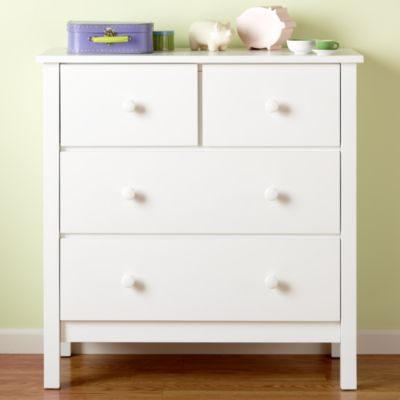 Simple 2 Over 2 Dresser White Go With Upholstered Bed And District Storage Piece Kids Dressers Interior Paint Simple Dresser
