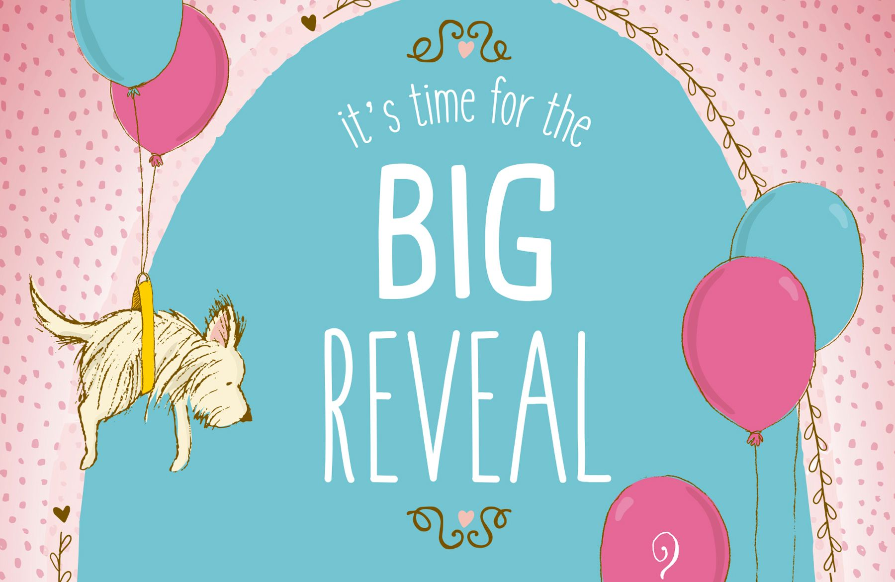 Design An Adorable Baby Gender Reveal Postcard In Illustrator