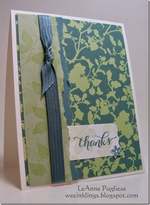 by LeAnne: Summer Silhouettes, Another Thank You, All Abloom dsp stack, & more. All supplies from Stampin' Up!