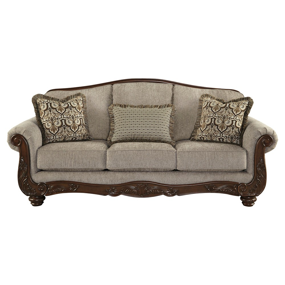 cecilyn sofa cocoa signature design by ashley soapstone target