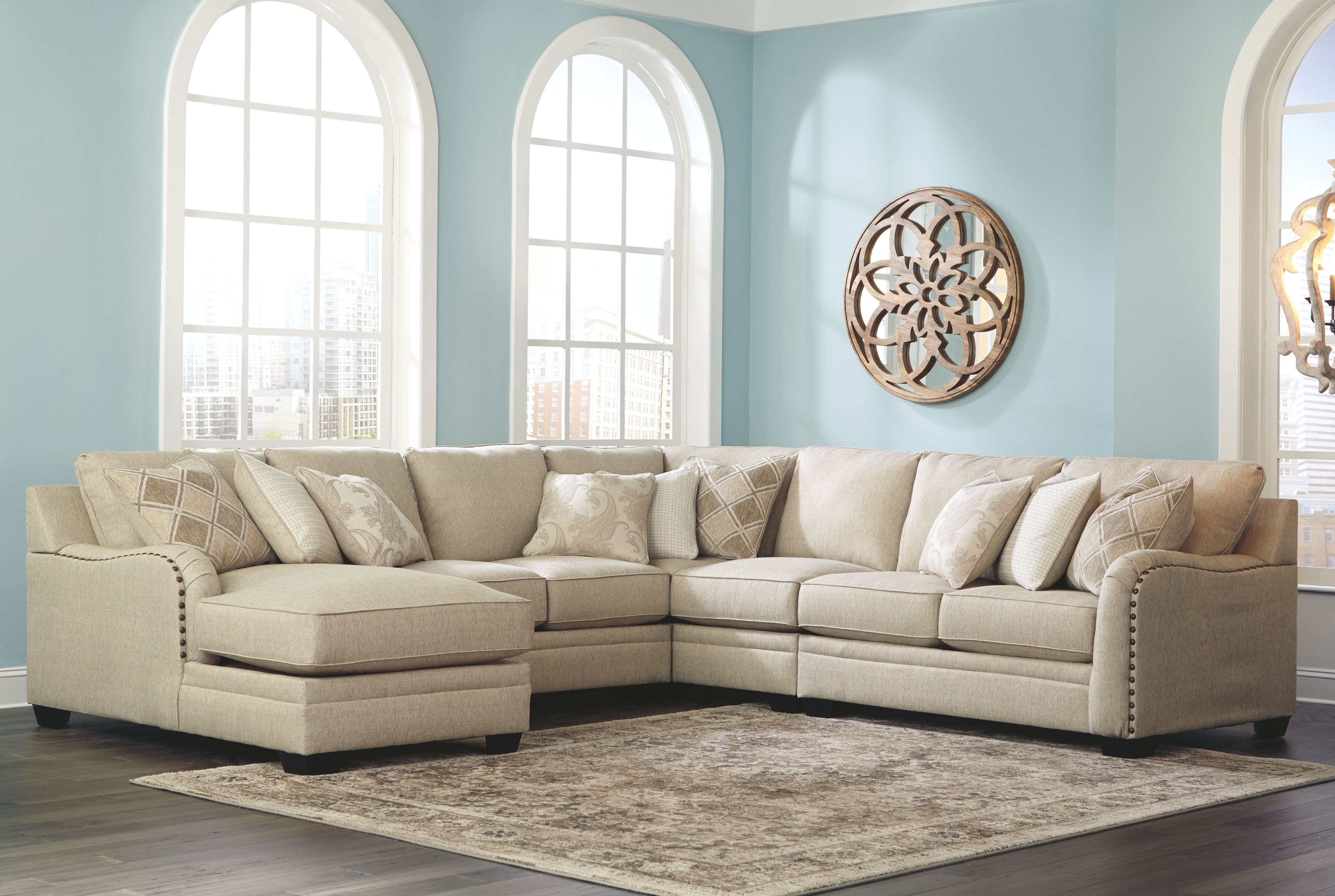 Best Luxora 5 Piece Sectional Bisque Sectional Sofa With 400 x 300