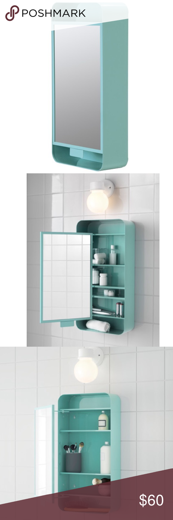 IKEA mirror cabinet Brand new. Never been opened, turquoise Other