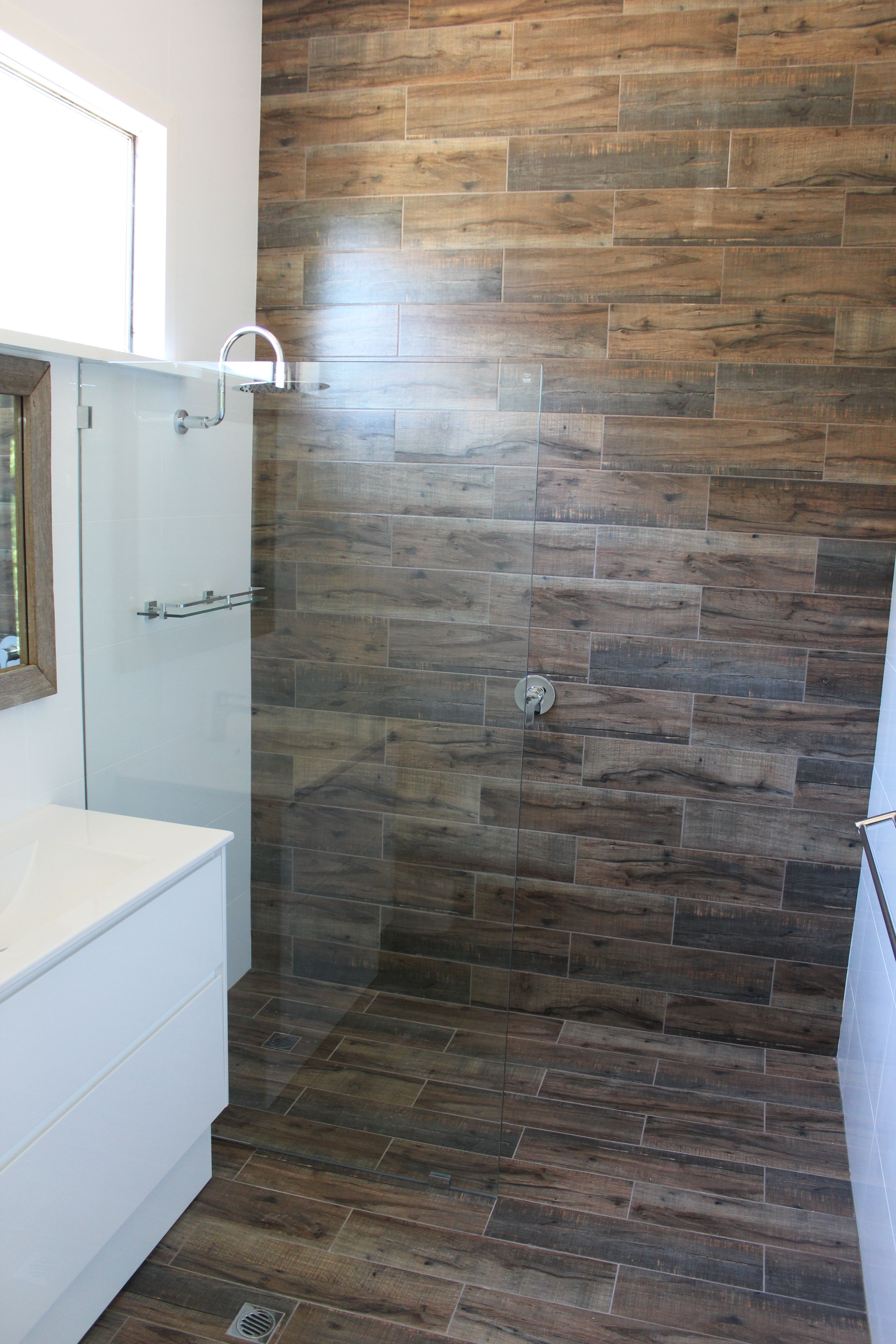 Wood Look Tiles Wood Bathroom Wood Feature Wall Brick Fashion Tiling On The Ball Bathrooms Wet R Wood Look Tile Bathroom Wall Tile Shower Wall Panels