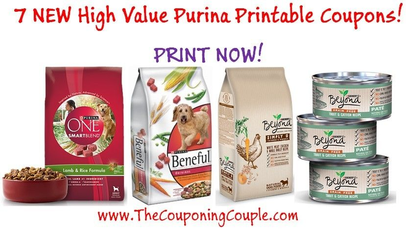 7 NEW Purina Pet Food Printable Coupons PRINT NOW