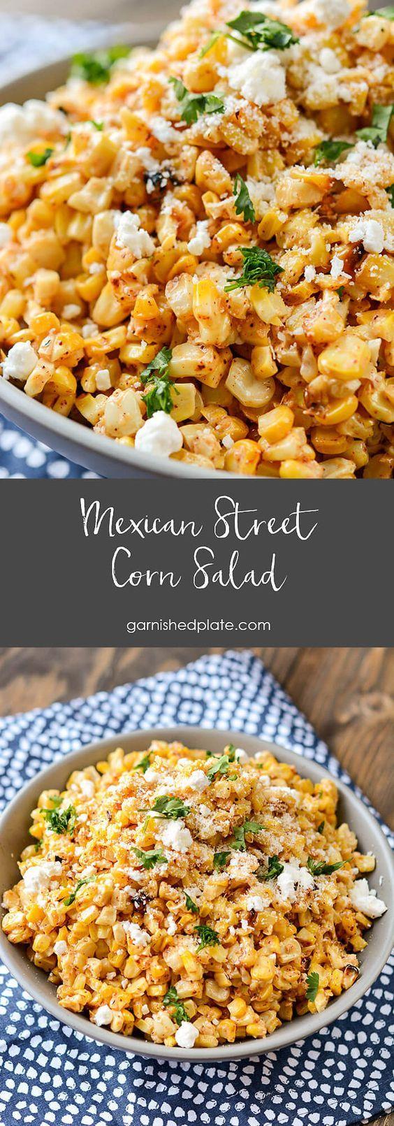 Mexican Street Corn Salad - Garnished Plate