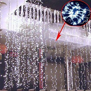 Fuloon 3M x 3M 300 LED Outdoor Party christmas xmas String Fairy Wedding Curtain Light 8 Modes for Choice 110V (White)  Fuloon $30.96