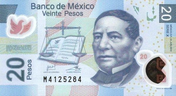Mata Mexico 20 Pesos Dan Widget Penukaran Currency Converter Untuk Tukaran Mexican Peso Mxn
