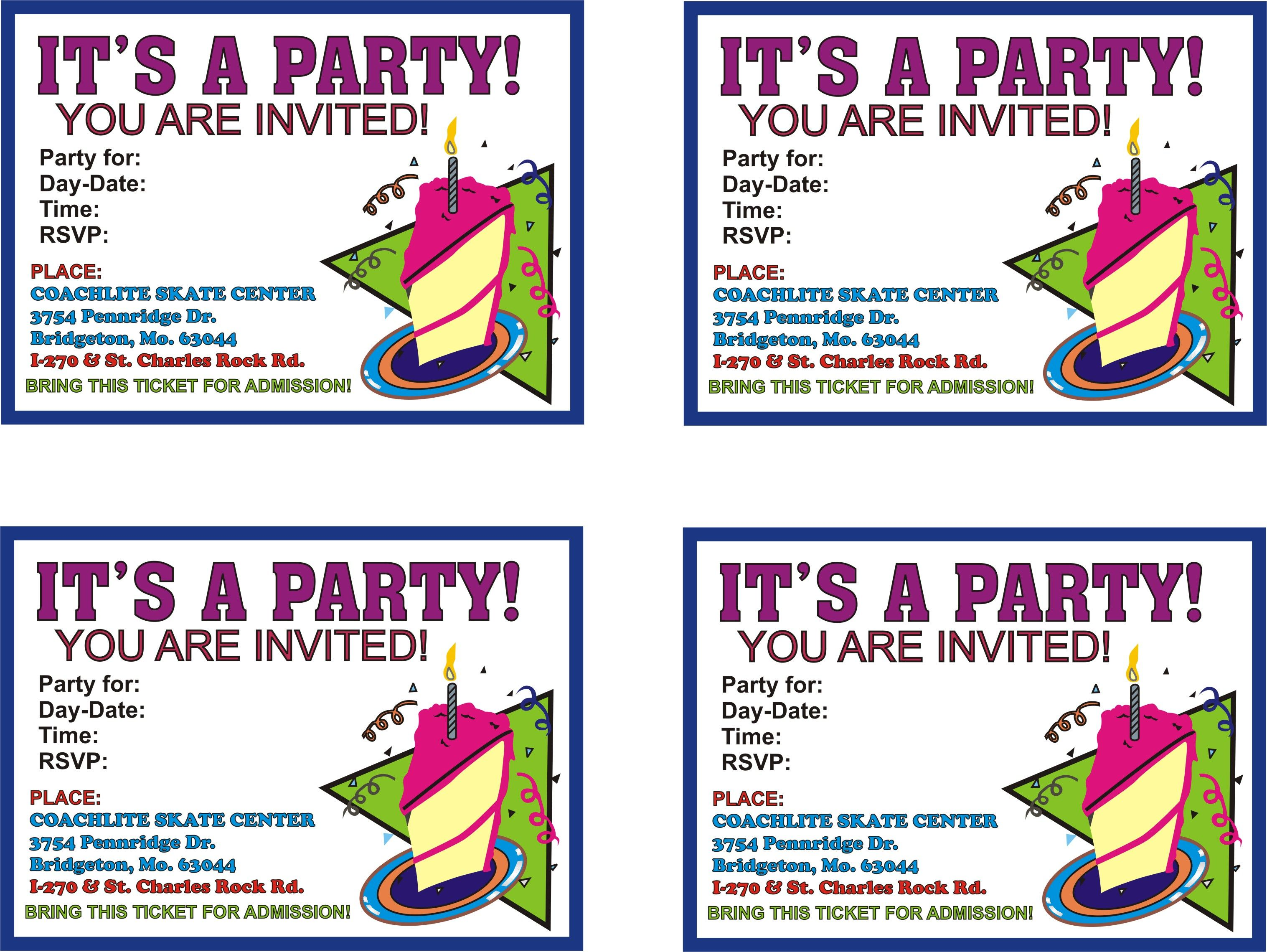 Cool How To Select The Printable Birthday Party Invitations Check