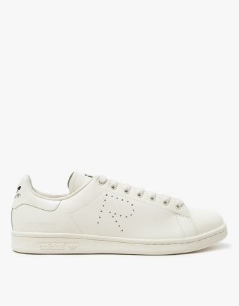Raf Simons Stan Smith In Cream Black Mens Designer Boots Sneakers Shoes