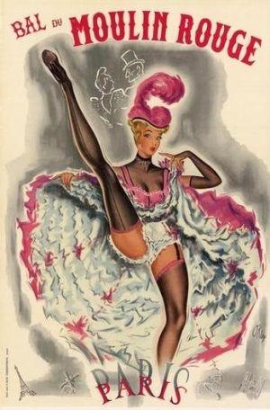 France Paris Moulin Rouge Poster