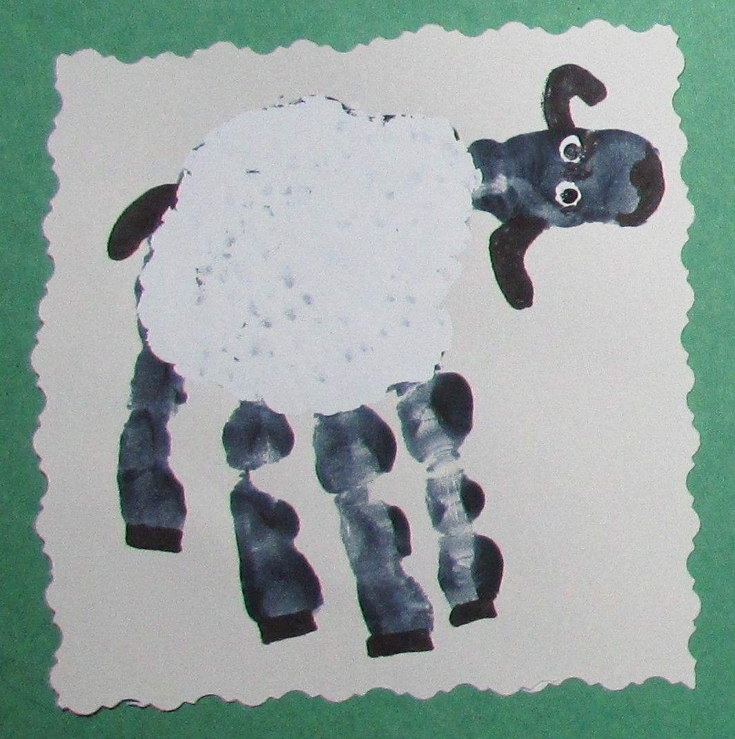 Sheep handprint | Educational Activities | Pinterest | Handprint art ...