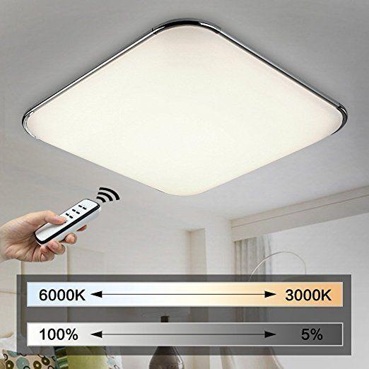Natsen 54W Moderne LED Deckenleuchten Wohnzimmer Deckenlampe Fernbedienung voll dimmbar Lampe