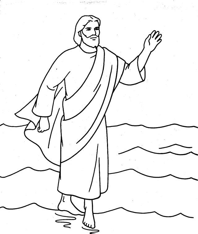 Color Walking On Water Jesus Coloring Pages Jesus Walk On Water Coloring Pages