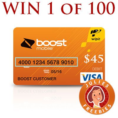 win 1 of 100 boost mobile wallet prepaid cards - Free Prepaid Credit Card