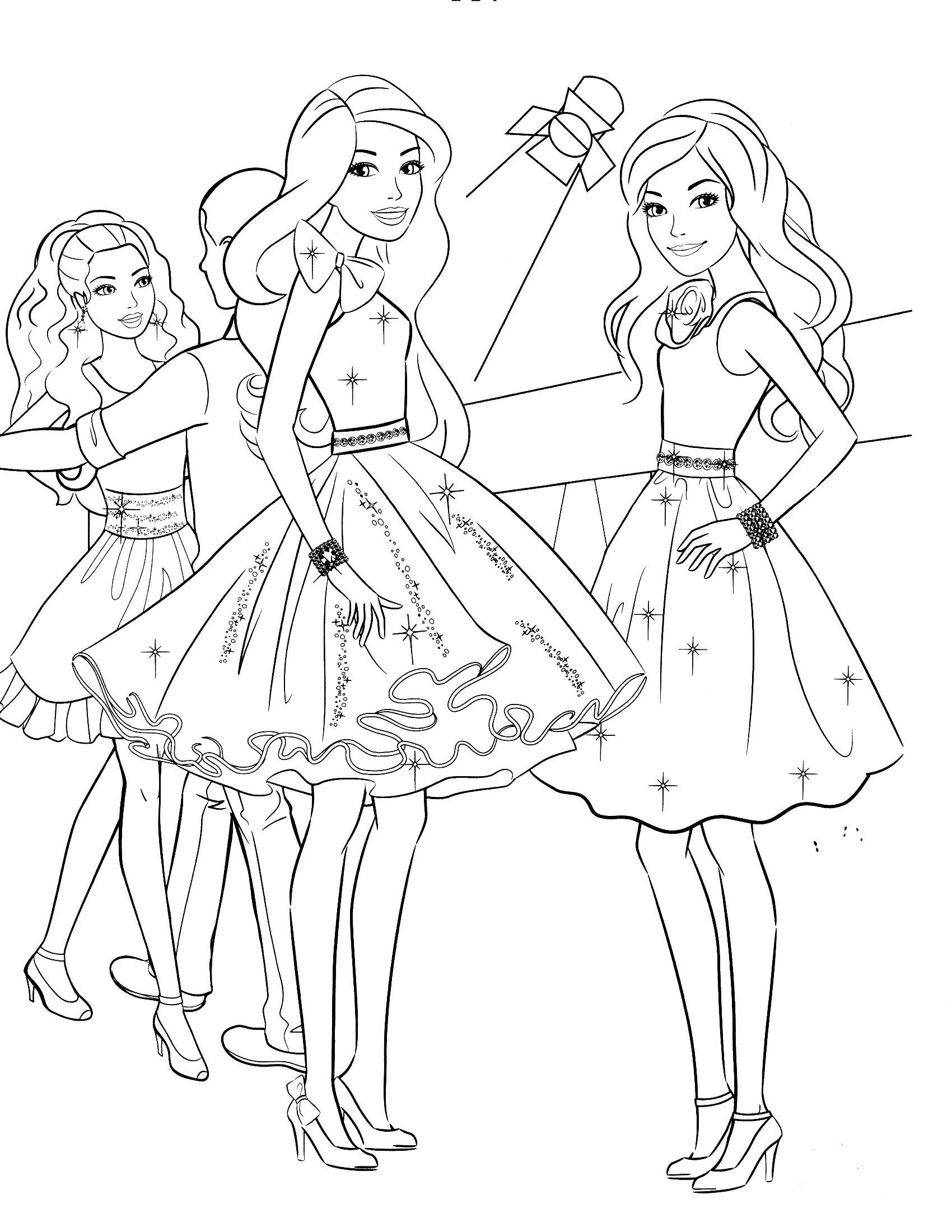 Meilleur De Dessin A Colorier Barbie Et Le Cheval Magique