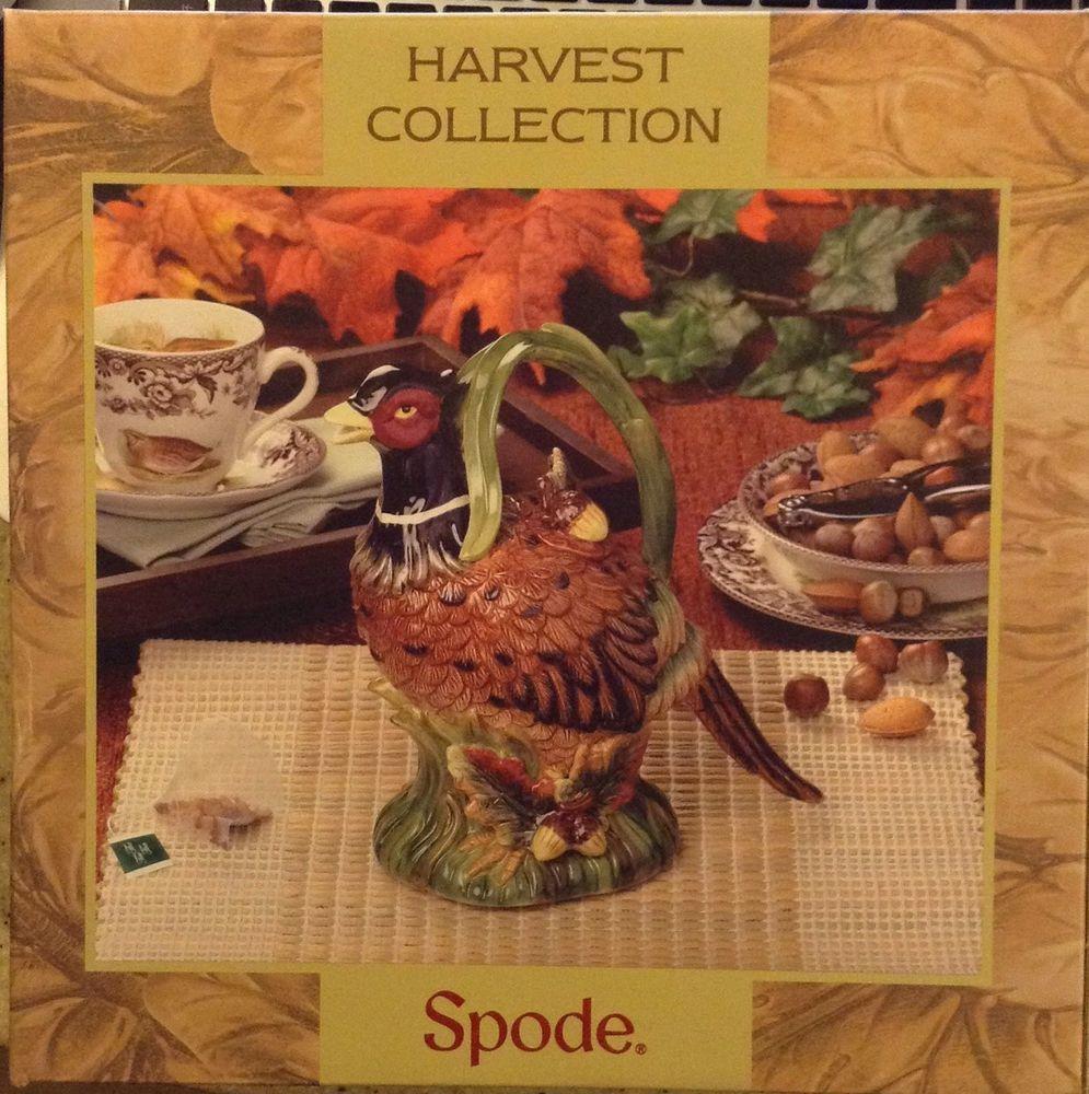SPODE Harvest Figural Collection Pheasant Teapot Tea Pot