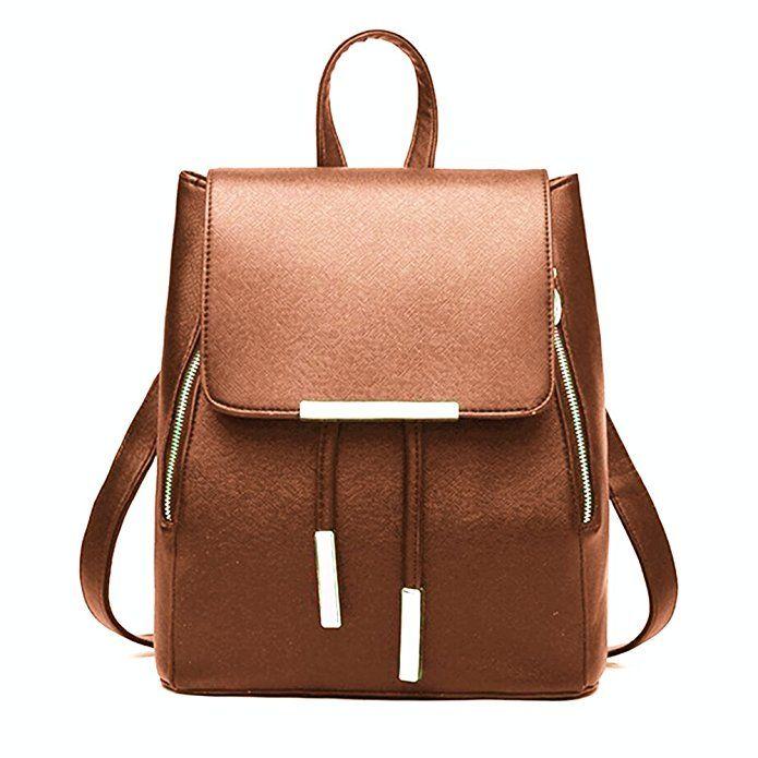 Amazon.com  WINK KANGAROO Fashion Shoulder Bag Rucksack PU Leather Women  Girls Ladies Backpack Travel bag (Black)  Clothing 38b191fa3b727