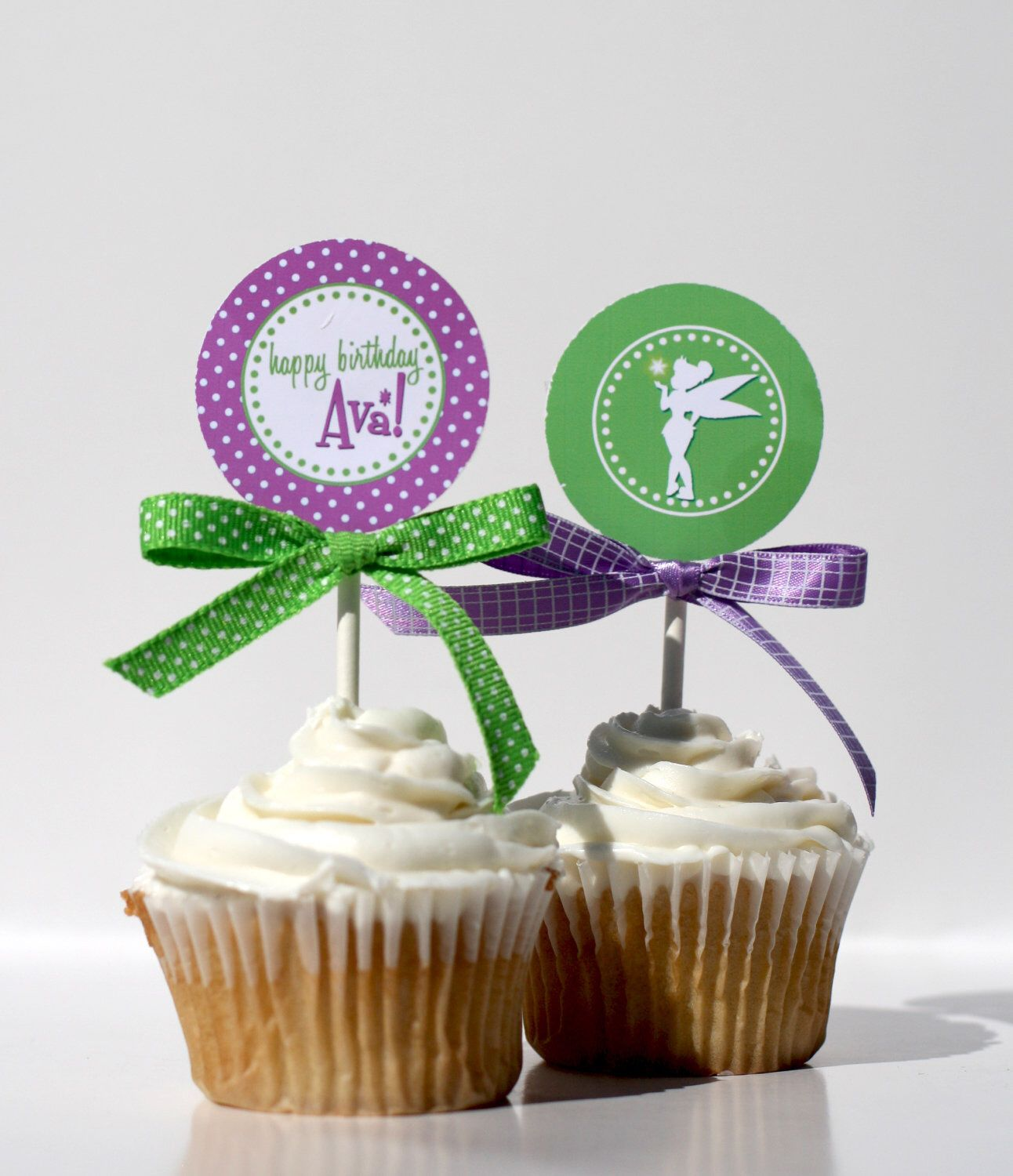 Tinkerbell Cupcake Toppers Printable By Confettiprintsshop On Etsy
