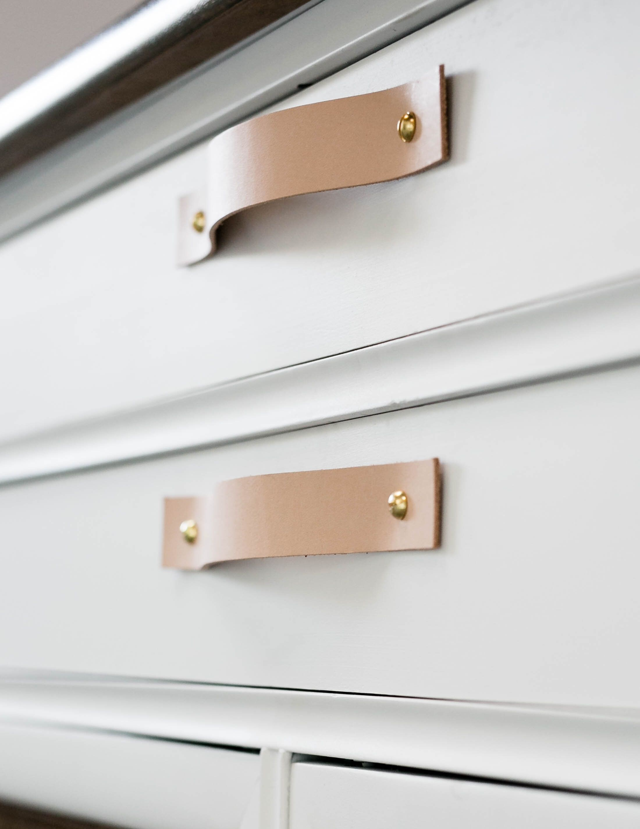 Leather Minimalist Drawer Handles Modern Cupboard Handles Mid