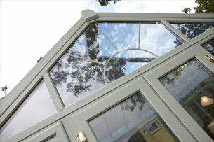 Rehau Upvc Conservatory Chartwell Green External From Grm Windows South Wales Facade House Windows Rehau
