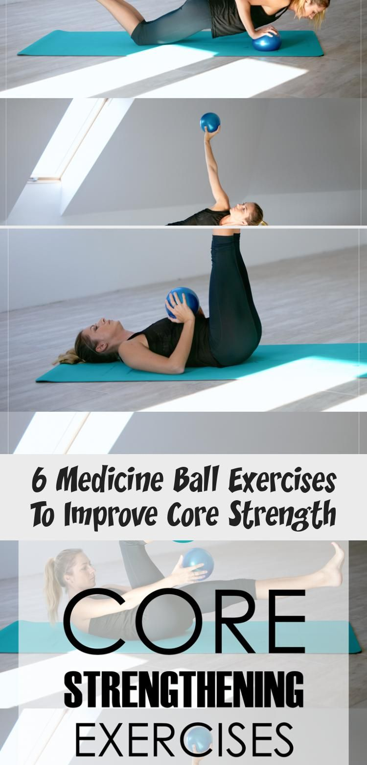 6 exercises with a soft ball or medicine ball to help you strengthen your core. Great for home worko...