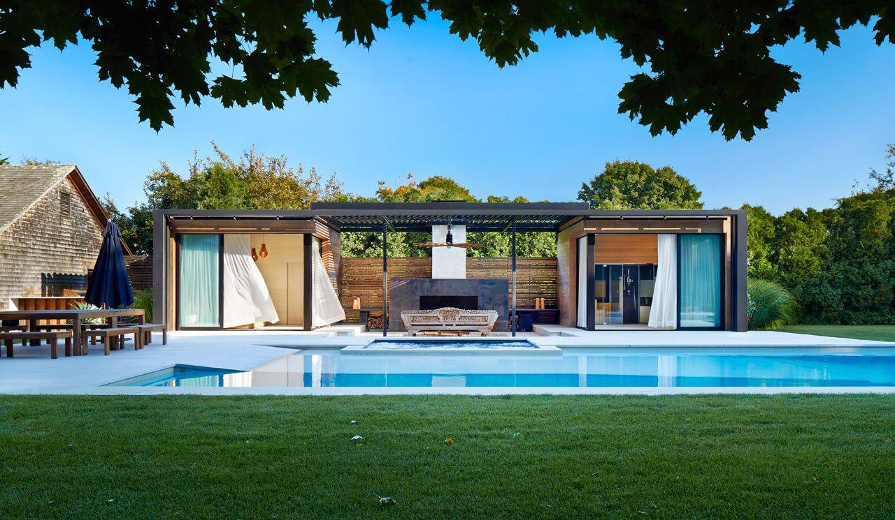 Modern Pool Houses blurred lines: an amagansett oasisicrave | modern pool house