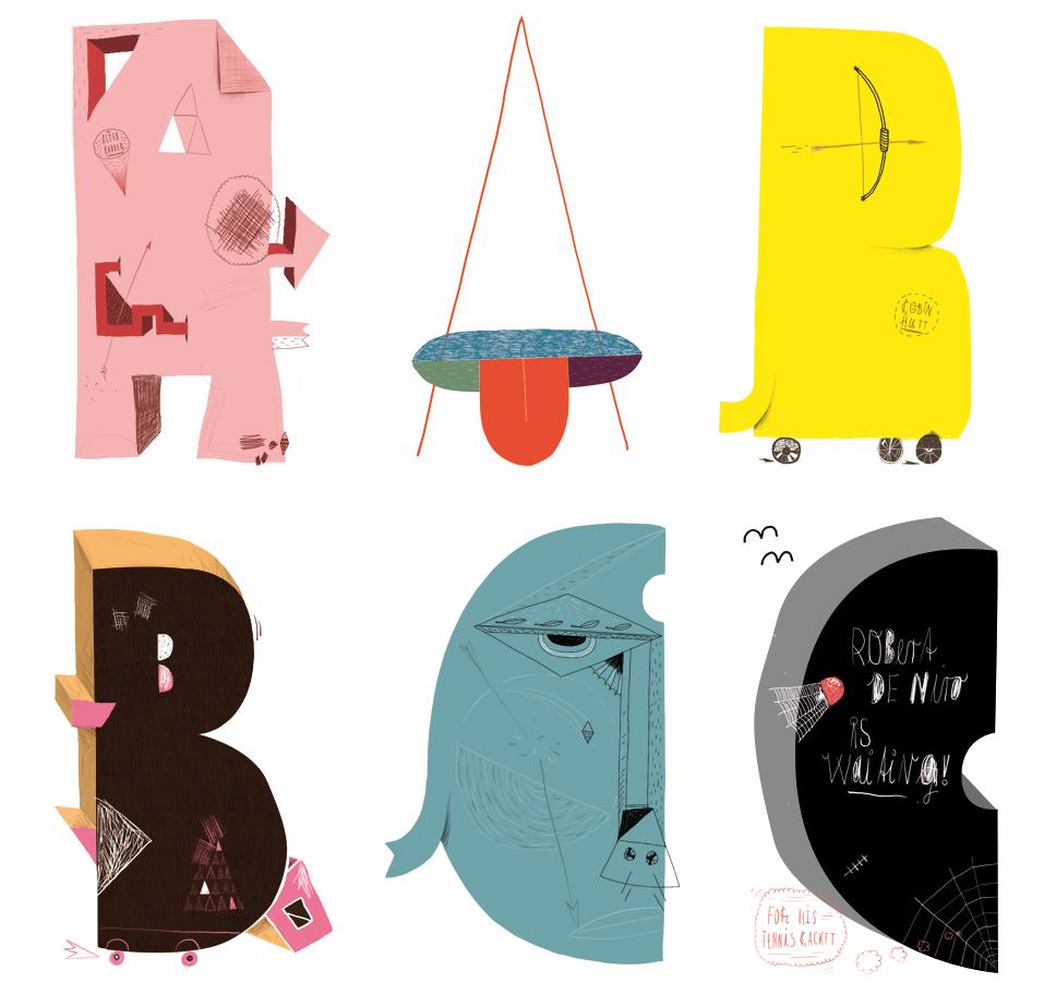 Mike Okay & Otto Baum - Comic Suns alphabet (A B C)