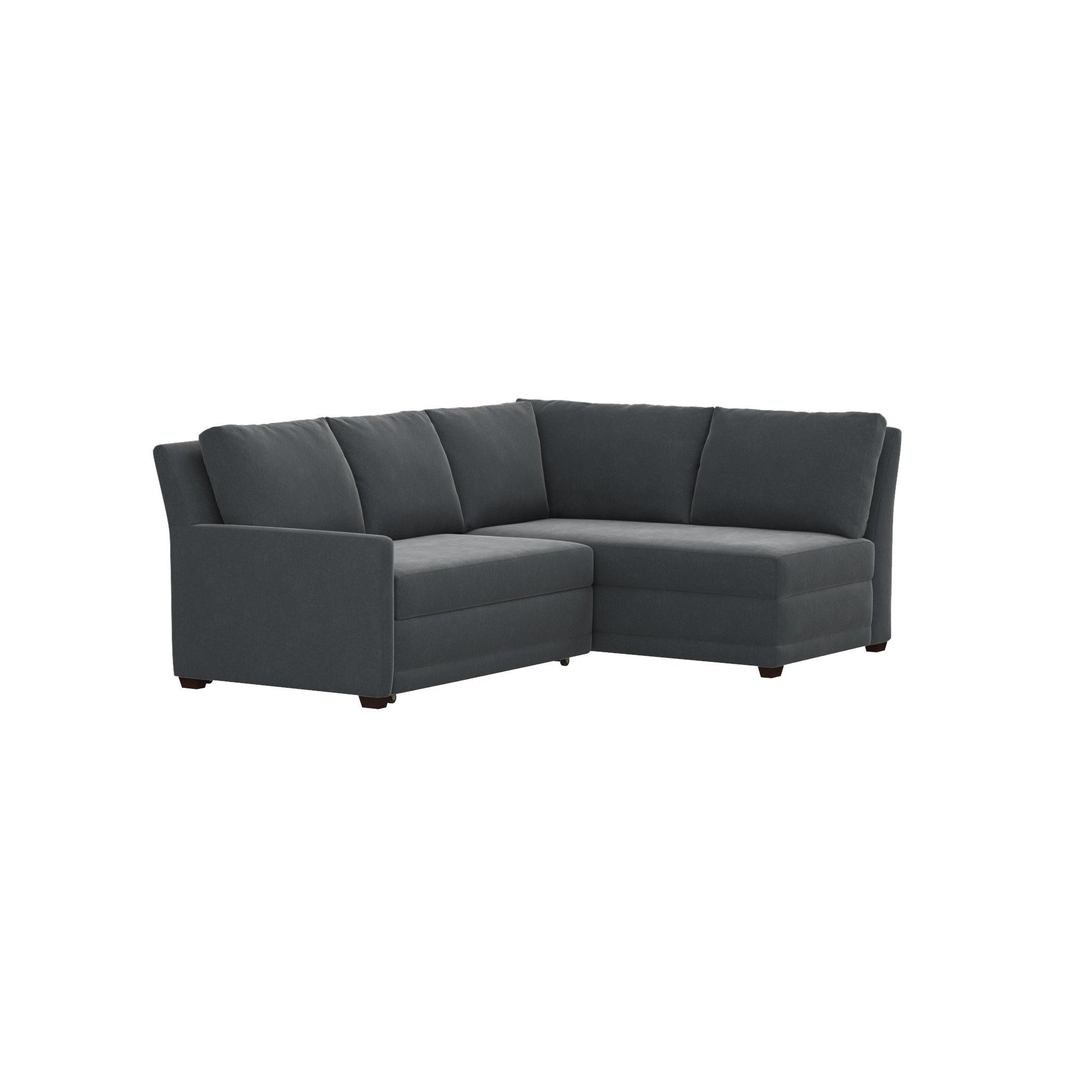 Reston 2 Piece Left Arm Loveseat Trundle Sleeper Sectional Sofa Sleeper Sofa Comfortable Sectional Sleeper Sofa Sectional Sofa