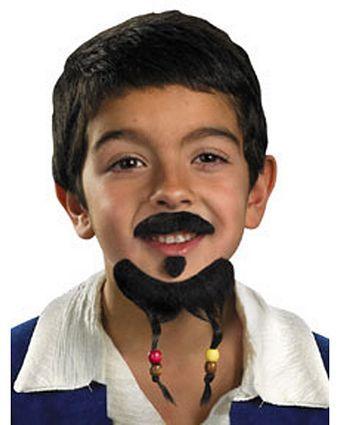 Pirates of the Caribbean Goatee  Moustache Set Beard  Moustache - biker chick halloween costume ideas