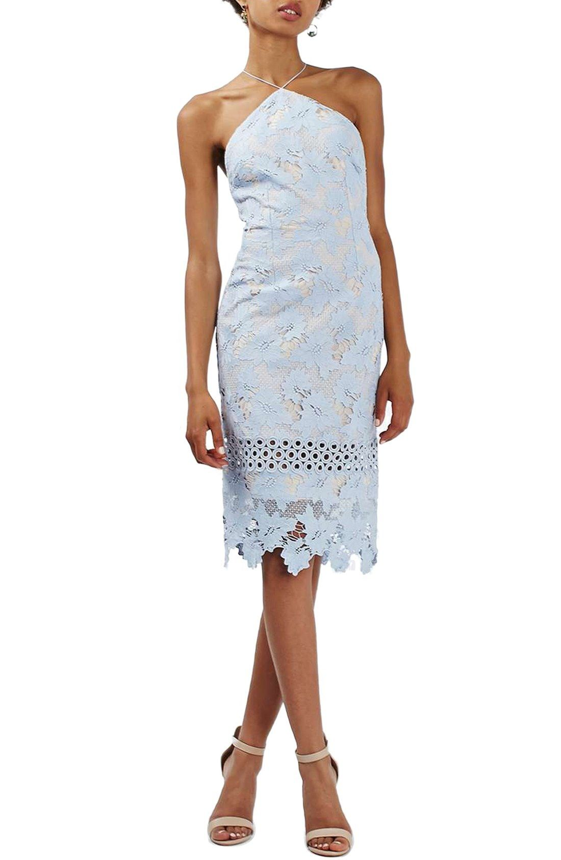 Topshop Cross Strap Lace Halter Midi Dress available at #Nordstrom ...