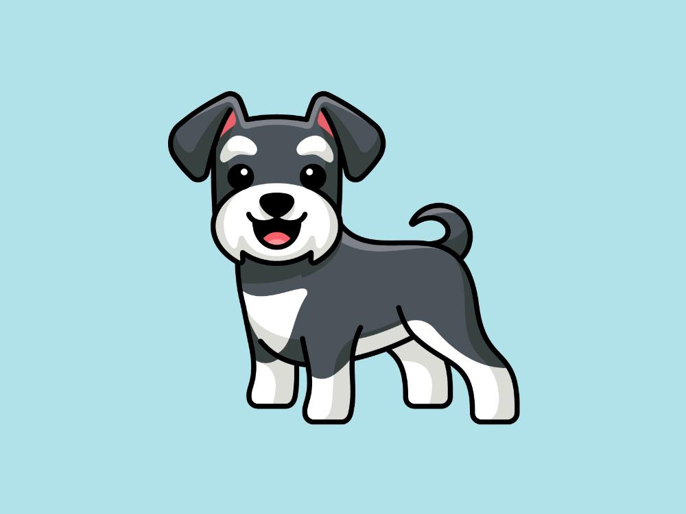 Schnauzer Cute Dog Drawing Cute Dog Cartoon Cute Cartoon Wallpapers