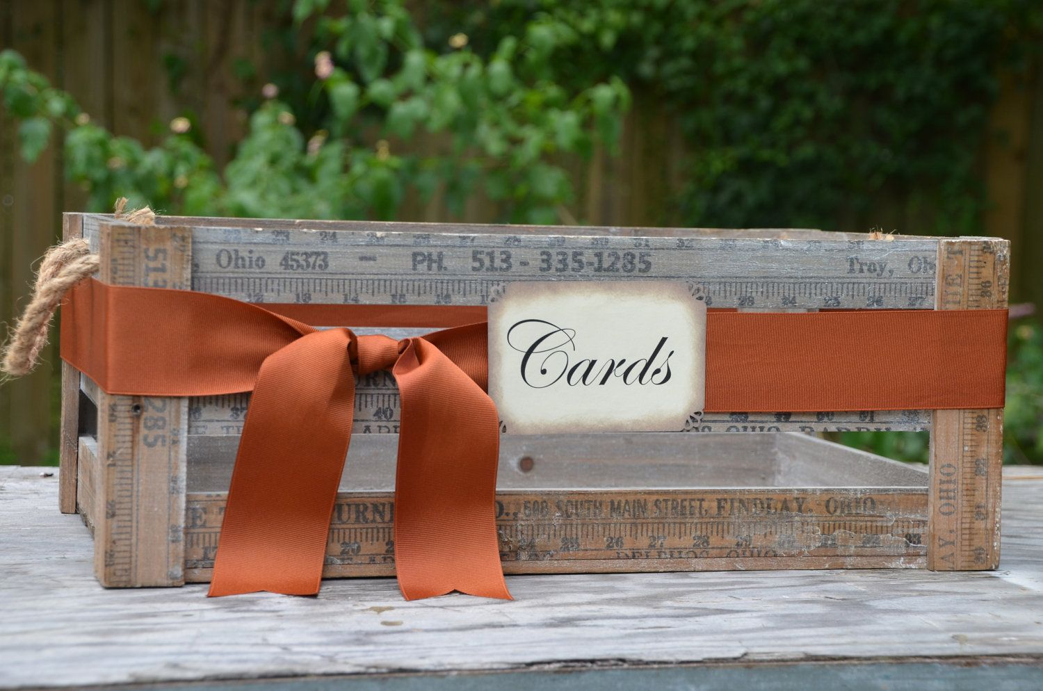 Fall Wedding Crate Rustic Wedding Crate Wedding Crate Card Holder