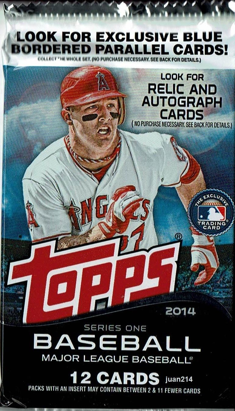 Details about 2014 Topps Baseball Series One 12 Card Pack