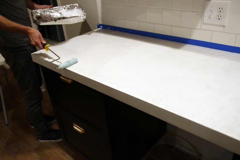 Sealing Our White Concrete Countertops With Images White