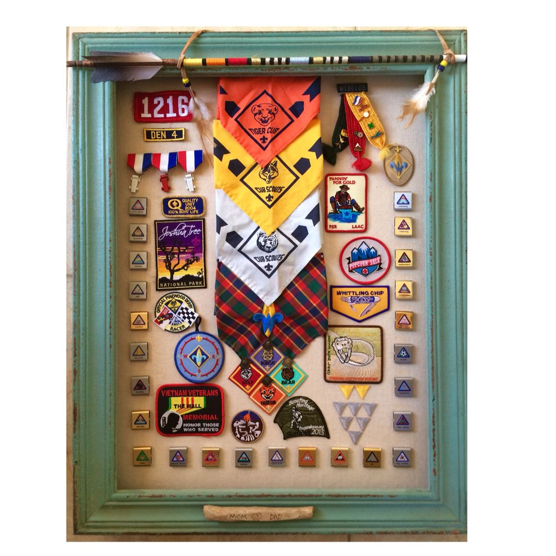 Cub Scout shadow box | Cub Scouts | Pinterest