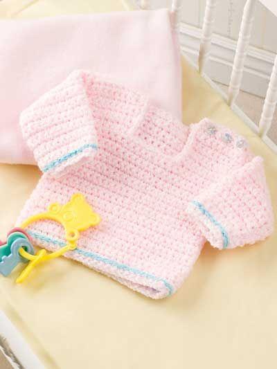 Pretty In Pink Baby Sweater Crochet Pattern Crochet Numerous