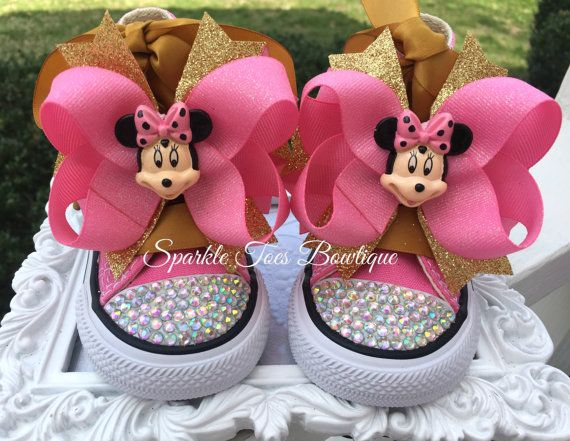 first birthday Mickey Mouse 1st birthday Minnie Mouse shoes gold glitter shoes