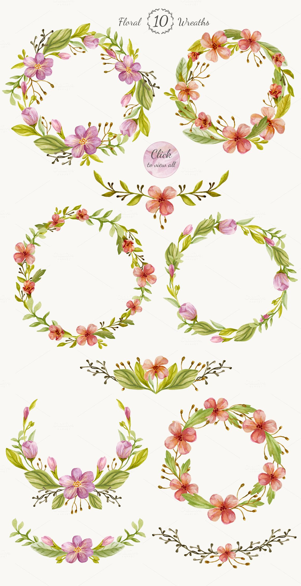 Watercolor Floral Diy Pack Watercolor Creative And Floral
