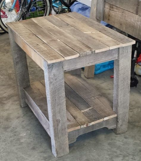 Pallet Bedside Table Nightstand Wood Pallet Projects Wood