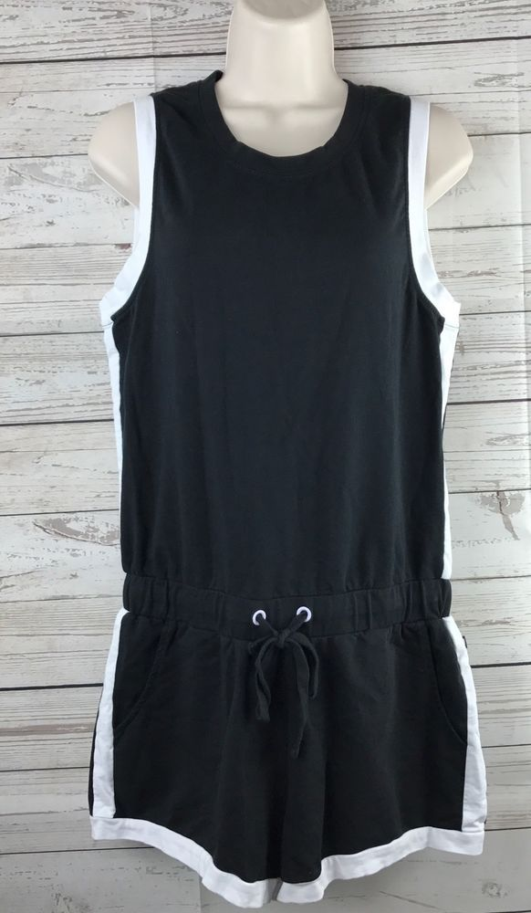 66f98e9acdde Fabletics Lakeside Romper Black White Size Small Kate Hudson Athletic Yoga