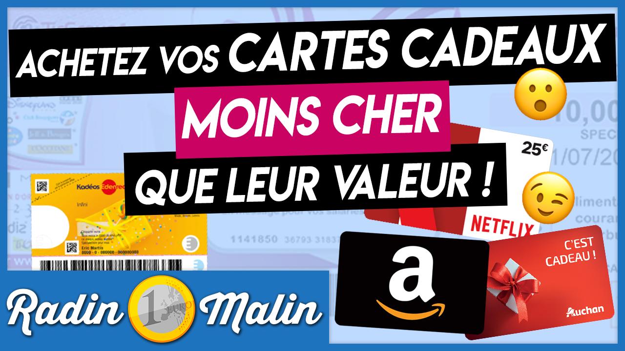 L Astuce Pour Payer Vos Cartes Cadeaux Moins Cher Que Leur Valeur Radin Malin Radin Economiser De L Argent