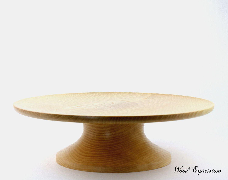 Large Wedding Cake Stand / Solid Wood Pedestal Cake Stand / Dessert Plate & Large Wedding Cake Stand / Solid Wood Pedestal Cake Stand / Dessert ...