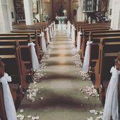 Fine Ślub kościelny z płatkami kwiatów # Kościół # Dekoracja # Kwiat # Lalka -…