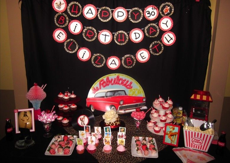 my 30th bday pin up rockabilly party ideas on pinterest. Black Bedroom Furniture Sets. Home Design Ideas