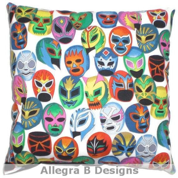 "1 Toss Pillowcase /""Lucha Libre Wrestling Masks/"" by Alex Henry"