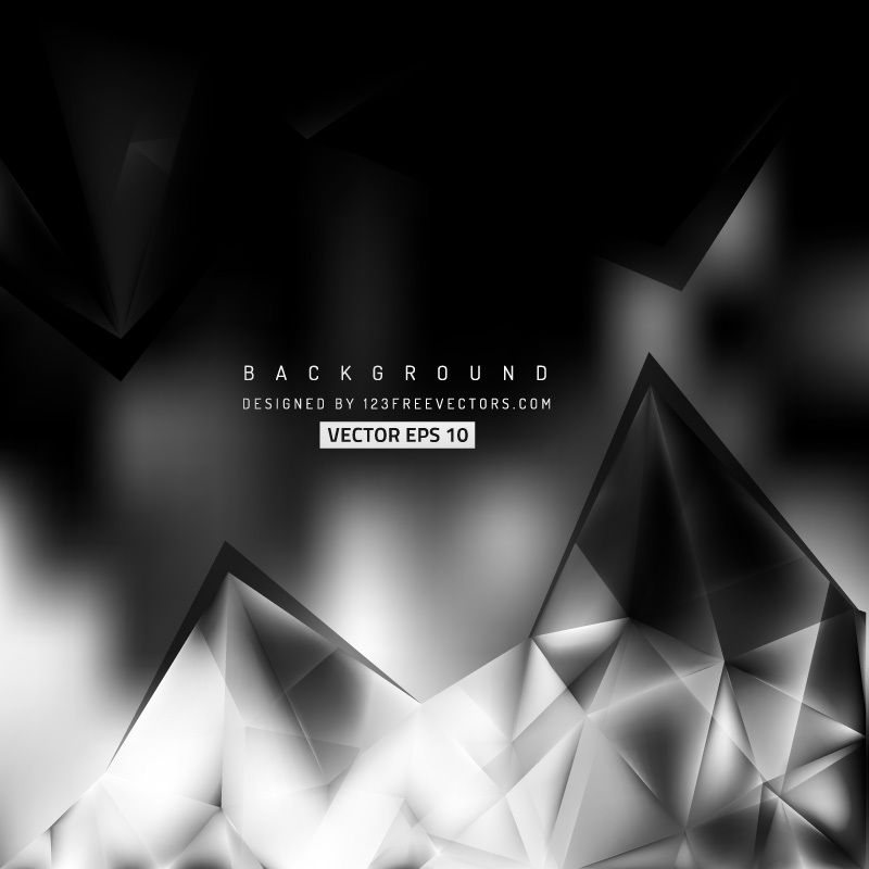 Abstract Black And Gray Polygonal Triangular Background Template