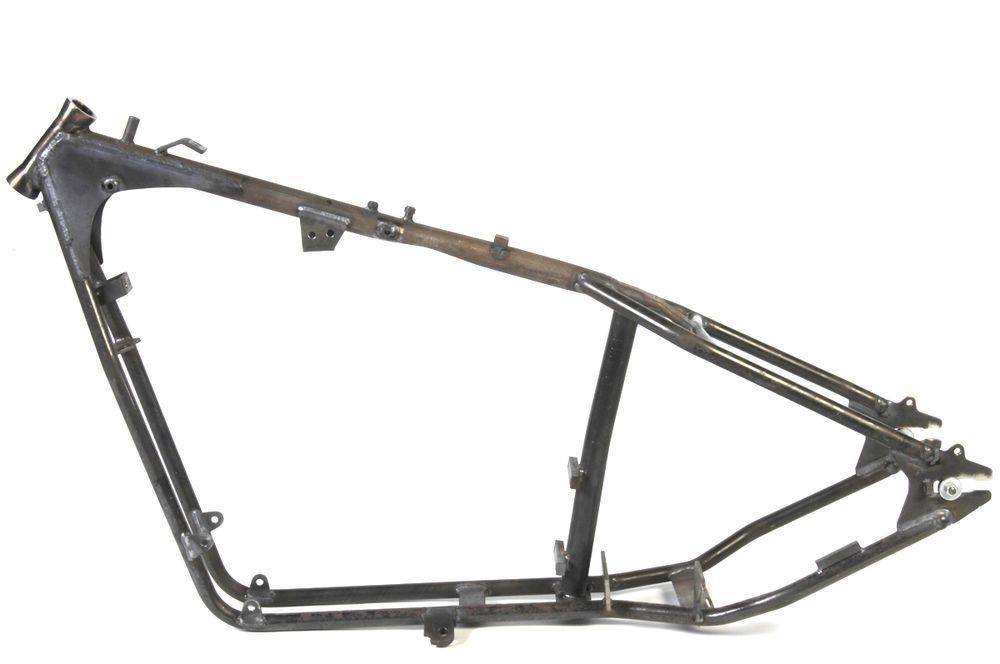 Custom Rigid Frame 40° Rake Bobbed Tank For Harley Davidson ...