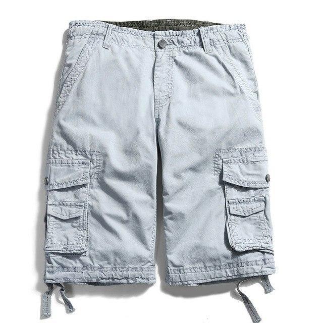 be88467e28 High Quality Cotton Cargo Shorts Men Casual Slim Multi-pocket Military  Shorts Mens